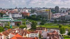 Minsk Nemiga Troickae Rooftop view Timelapse 4K Stock Footage