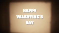 Film card projection happy valentine Stock Footage