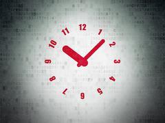 Stock Illustration of Time concept: Clock on Digital Paper background