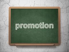 Stock Illustration of Advertising concept: Promotion on chalkboard background