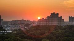 Minsk Sunset The sun goes downTimelapse 4k Stock Footage