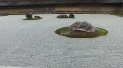 Zen Rock Garden at Ryoanji in Kyoto, Japan - stock footage
