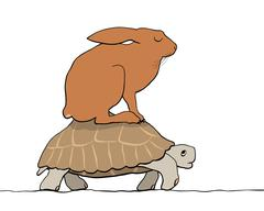 Hare and tortoise Stock Illustration