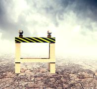 Stock Illustration of Construction Horse on Dry Ground