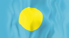 Animated flag of Palau Stock Footage