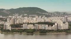Guanabara Bay with Flamengo Park, Rio de Janeiro Stock Footage