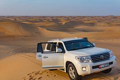 Abu Dhabi - December 25: Driving on jeeps on the desert, traditi Kuvituskuvat