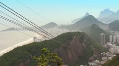Cable Car arrival in Sugar Loaf Mountain, Rio de Janeiro Stock Footage