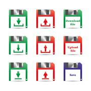 Icons download, vector illustration. - stock illustration
