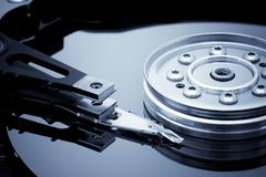 Hard disk detail - stock photo