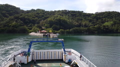 Leaving Paquera with the Puntarenas-Paquera ferry in Costa Rica. Stock Footage