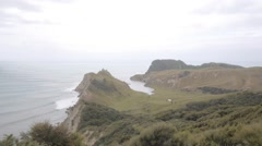 Cooks Cove, Tolaga Bay New Zealand Stock Footage