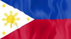 Animated flag of Philippines Stock Footage