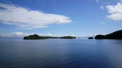 Leaving Bahia de Paquera from the Puntarenas-Paquera ferry in Costa Rica. Stock Footage