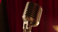 Checking the Old-Style Microphone - stock footage