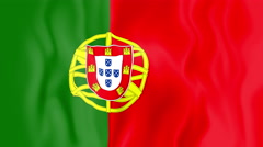 Animated flag of Portugal Stock Footage