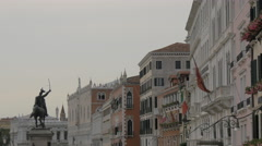The Victor Emmanuel II Monument in Venice Stock Footage