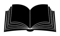 Stock Illustration of Open book vector clipart silhouette, symbol, icon  design. Illustration isola
