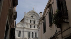 Stock Video Footage of Campo S Zaccaria with San Zaccaria Church in Venice