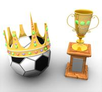 Award with the ball and with a crown Stock Illustration