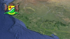 Mpumalanga with Coat of arms animation map Stock Footage