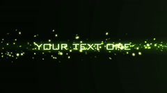Stock After Effects of Green Particles Light Streak Transition Text Titles Logo Reveal Trailer Intro