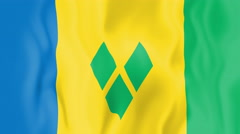 Animated flag of Saint Vincent and the Grenadines Stock Footage