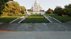 Tilt up shot of sacre coeur basilica, paris Stock Footage