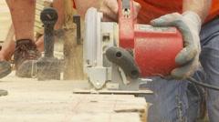 Contractors Making Progress Stock Footage