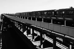 The bridge across the Dnieper River - stock photo