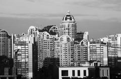 Panorama of Kiev - stock photo