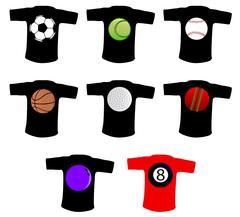 Sport Ball T Shirt Stock Illustration