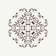 Vector ornamental white background with oriental pattern style Stock Illustration