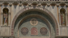 Frescoes and details on Basilica di San Marco in Venice Stock Footage