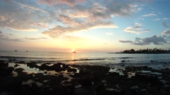 Beautiful sunset in Kailua-Kona on Hawaii Island. Stock Footage