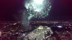 Akropoli vegalika fireworks  Stock Footage