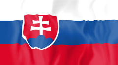 Animated flag of Slovakia Stock Footage