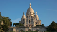 sacre coeur basilica, one of the most famous churches in paris - stock footage