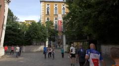 Walking towards the Palazzo Cavalli-Franchetti gate in Venice Stock Footage