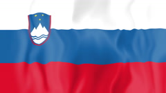 Animated flag of Slovenia Stock Footage