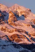 Winter in Ordesa National Park, Monte Perdido Peak (3355 m.), Pyrenees, Huesca,  - stock photo