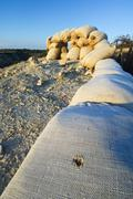 Orwell  trench used in the Spanish civil war, Saragossa, Aragon, Spain. Stock Photos