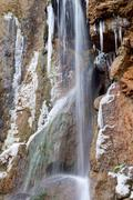 Waterfall in Salinas, Huesca, Aragon, Spain. - stock photo