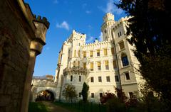 Castle neogothic Hluboka nad Vltavou Czech Republic Stock Photos