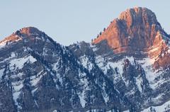 Sunrise in Partacua Mountains, Tena Valley, Pyrenees, Huesca, Aragon, Spain. - stock photo