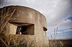 bunker used in the Spanish civil war, Tosos, Saragossa, Aragon, Spain - stock photo