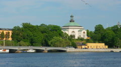 Stockholm old city view, sweeden Stock Footage