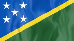 Animated flag of Solomon Islands Stock Footage