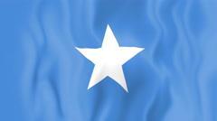 Animated flag of Somalia - stock footage