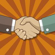 Partnership handshake sign Stock Illustration
